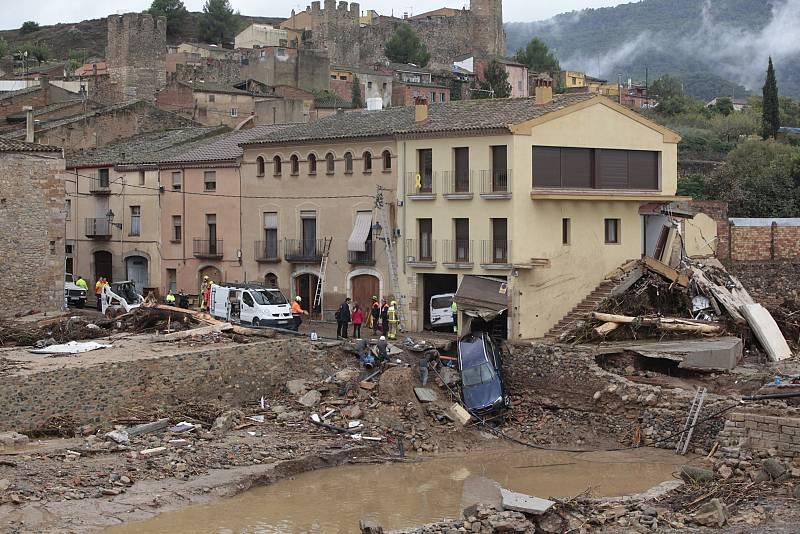 Las lluvias torrenciales causan graves daños en Tarragona
