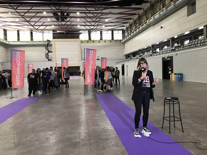 Noemí Galera da la bienvenida a la decimoprimera edición de OT en la fase 1 del casting de OT 2020 en Barcelona