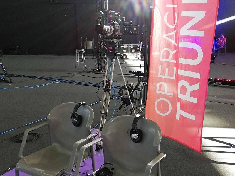 Las sillas esperan a los jueces, que no se van a perder ningún detalle en la fase 1 del casting de OT 2020 en Las Palmas de Gran Canaria