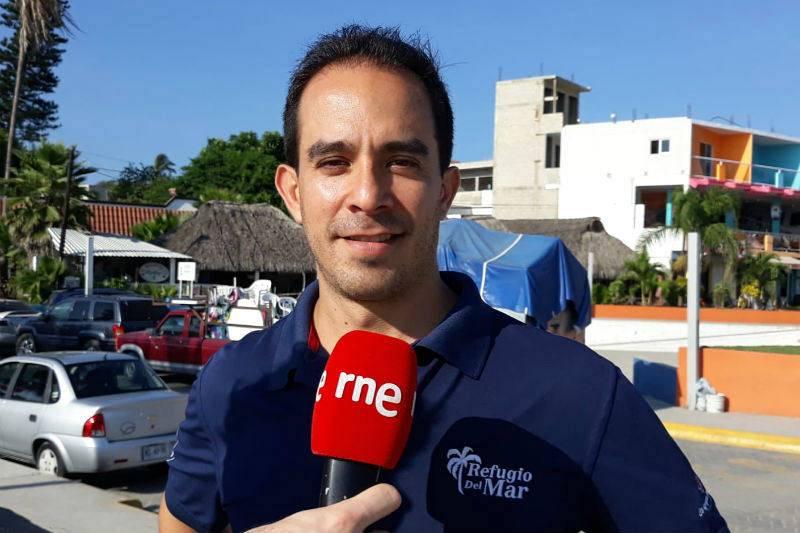 Jorge Grimaldi, gerente del hotel Refugio del Mar (Bucerías).