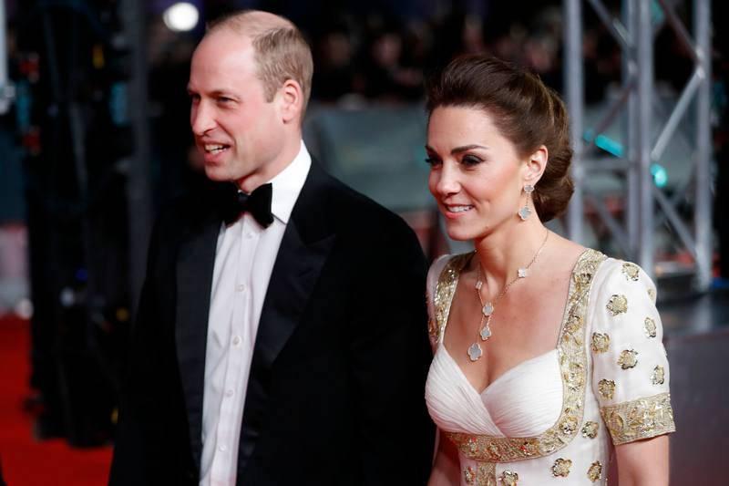 Los duques de Cambridge a su llegada al Royal Albert Hall de Londres