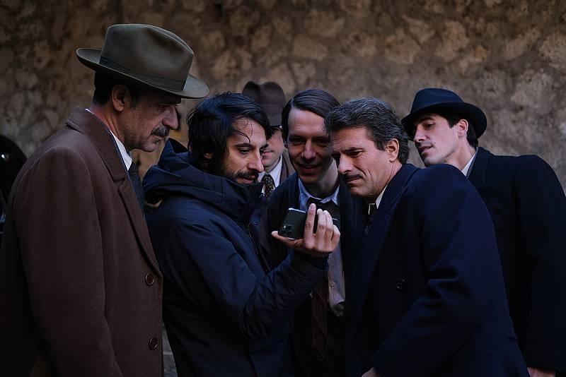 Marc Vigil, director, con Nacho Fresneda y Rodolfo Sancho