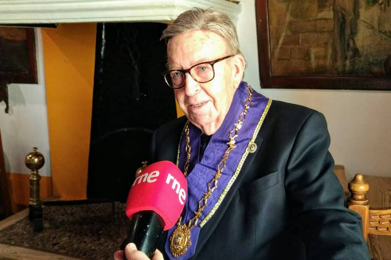 Alberto Cándido López, propietario del Mesón de Cándido.