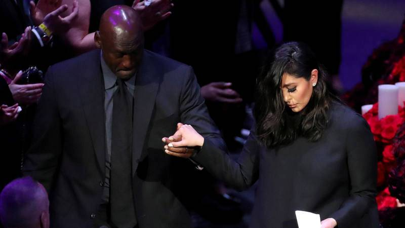 Public memorial for NBA great Kobe Bryant, his daughter Gianna and seven others killed in a helicopter crash on January 26, at the Staples Center in Los Angeles, California