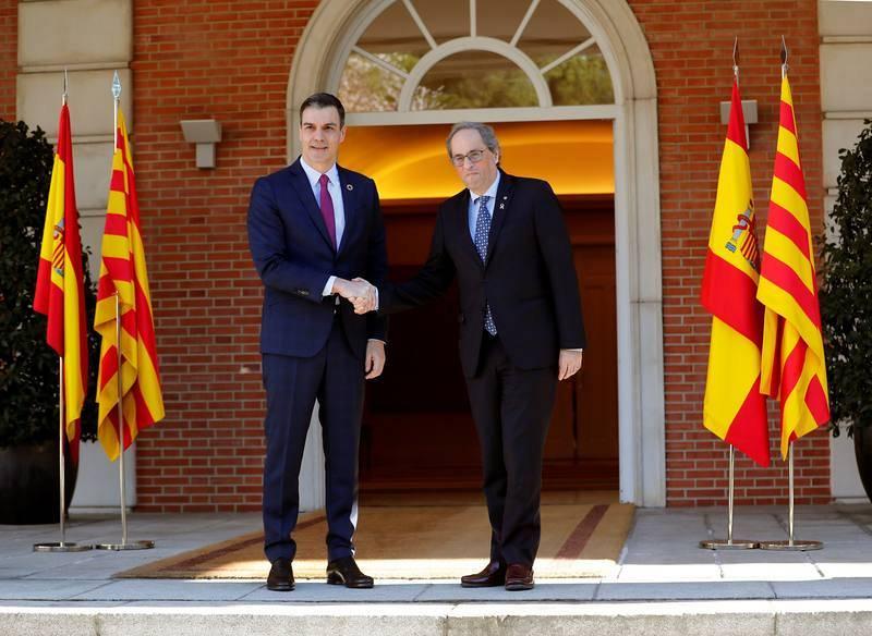 Mesa de diálogo Gobierno-Generalitat en el palacio de la Moncloa