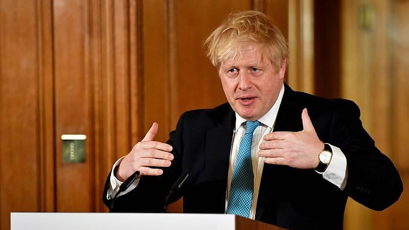 Boris Johnson, durante una rueda de prensa