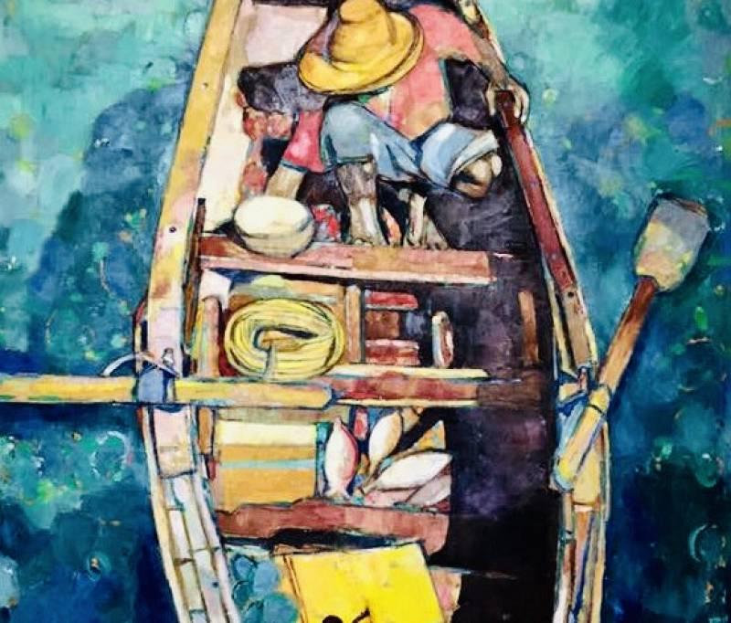 Uno de los cuadros de la etapa de Häsler en Cuba