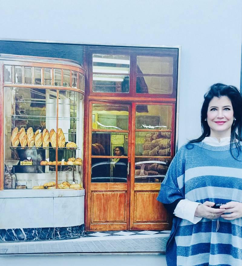 'Panadería'. Óleo sobre tela de Häsler