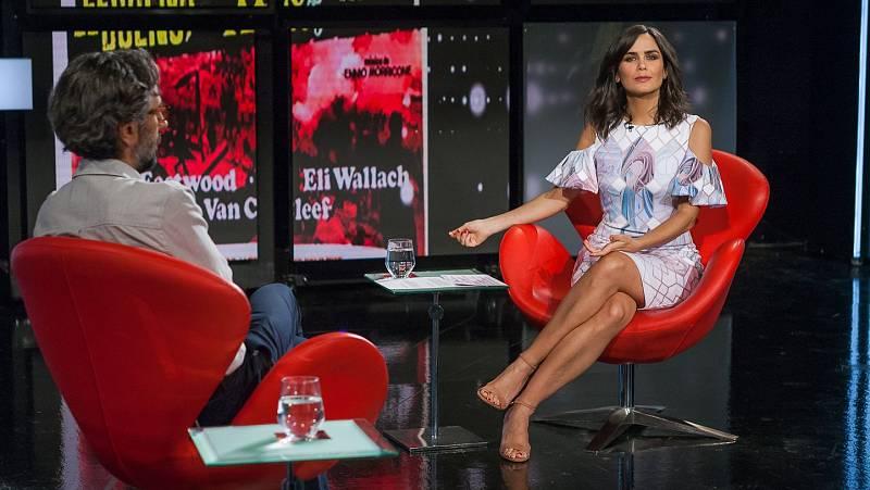 Elena Sánchez con el colaborador Javier Ocaña