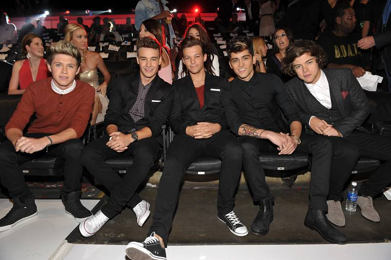 One Direction en los MTV Video Music Awards de 2012 en Los Ángeles.