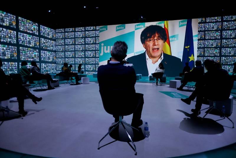 Puigdemont interviene en el final de campaña de Junts