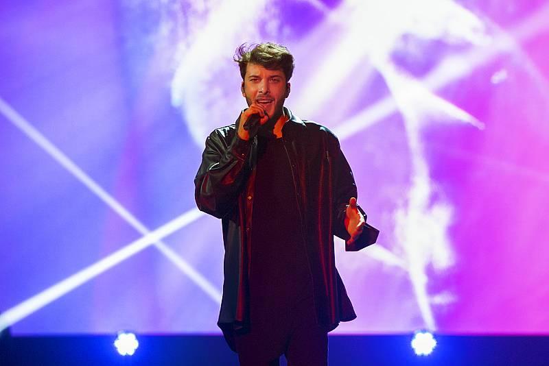 Blas Cantó durante los ensayos de 'Destino Eurovisión'