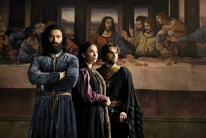 Aidan Turner, Matilda De Angelis yFreddie Highmore en 'Leonardo'