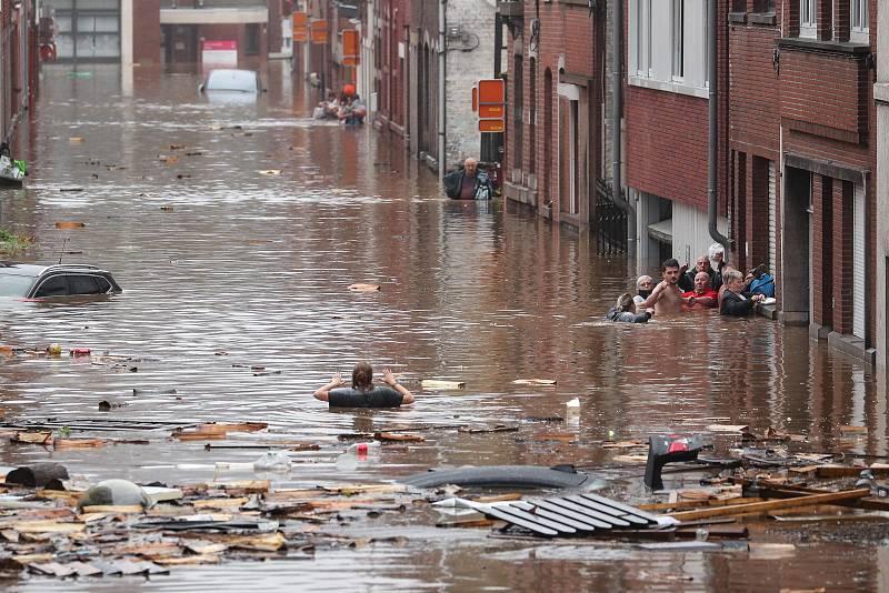 Graves destrozos en la región belga de Valonia