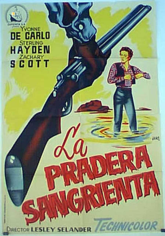 Cartel de la película 'La pradera sangrienta', después de la censura