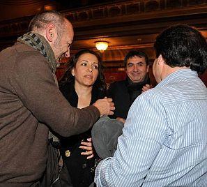 Eva Yerbabuena, durante la presentación de su espectáculo9 en Granada