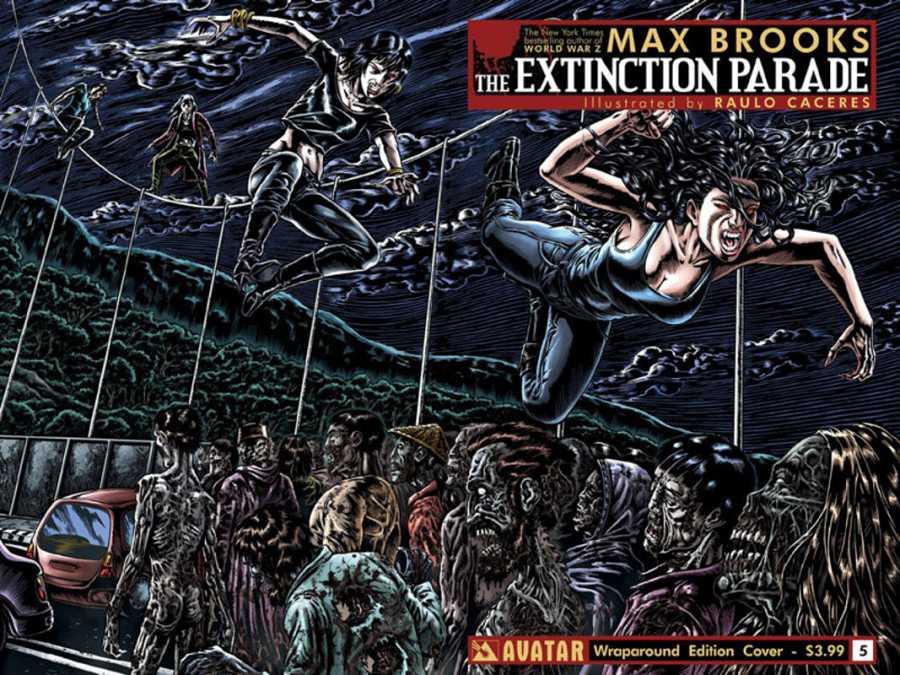 Portada del quinto número de 'Extincion Parade' (La marcha zombi)