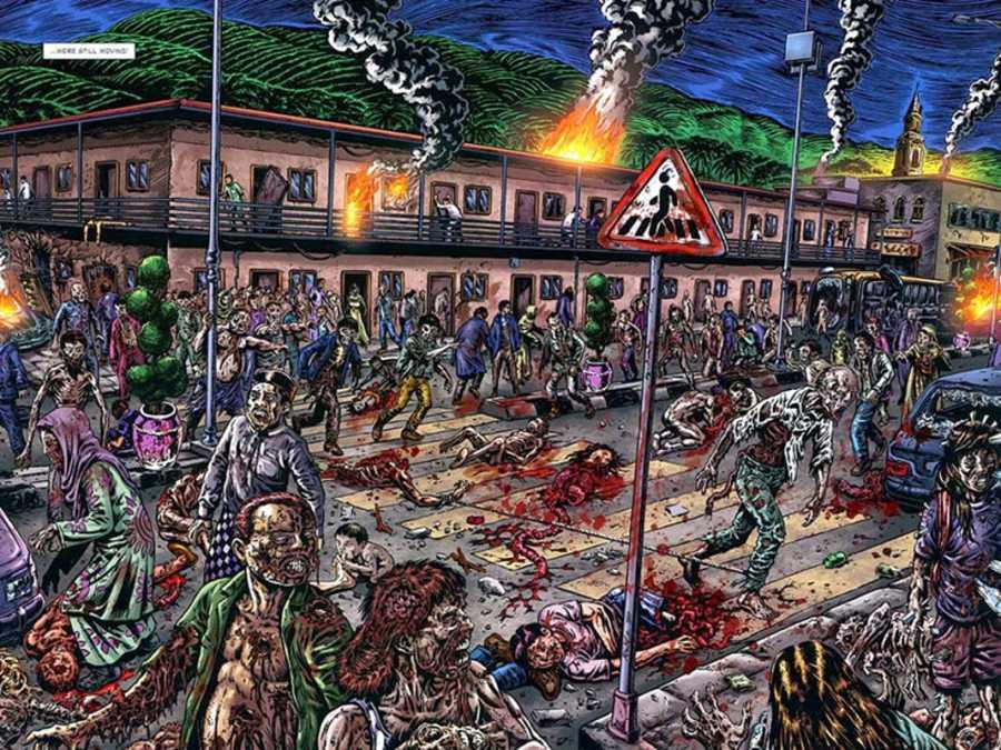 Páginas de 'La marcha zombi'