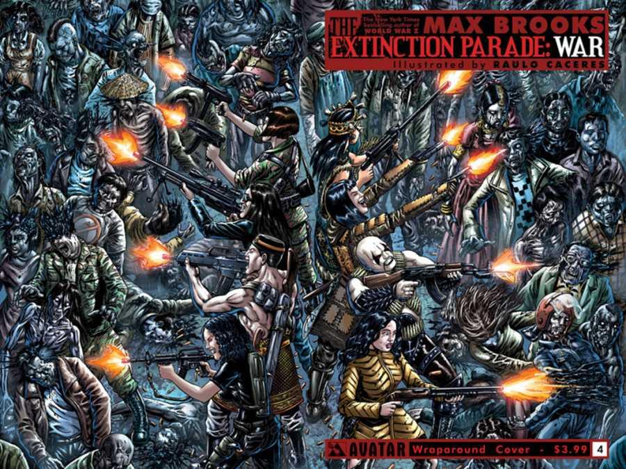 Portada del cuarto número de 'Extincion Parade: War'