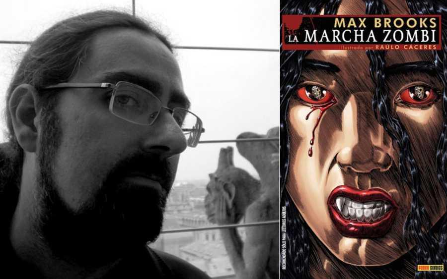 Raulo Cáceres y la protada de  la edición española de 'La marcha zombi'