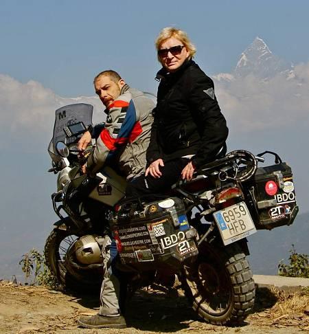 con madre en Himalaya