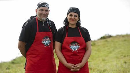 Magda Arenos y Jean Michel Gallinaro