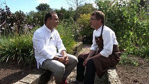 Con otro gran cocinero de la zona: Andoni Luis Aduriz