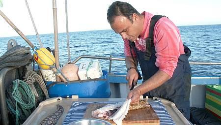 Ángel nos enseña a cocinar en el mismo barco