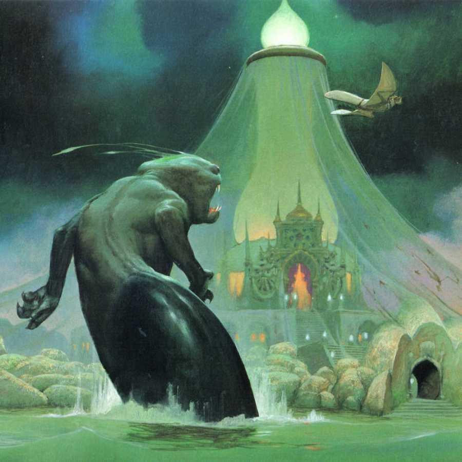 Ilustración de 'El Mercenario' de inspiración oriental