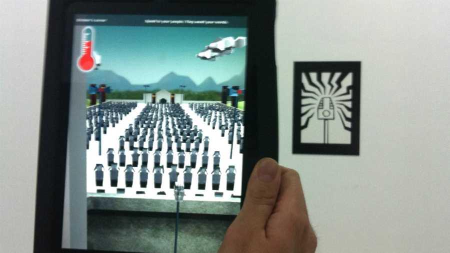 Realidad aumentada en la exposición 'Pantalla Global', del CCCB.