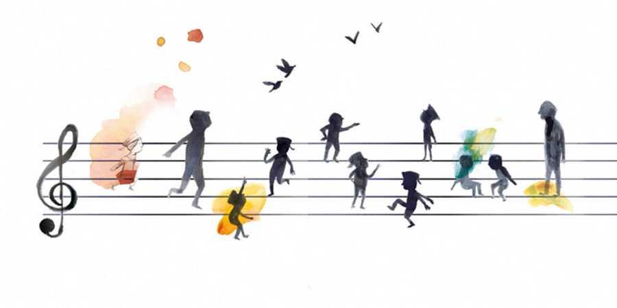 Ilustración de 'Los niños cantores'