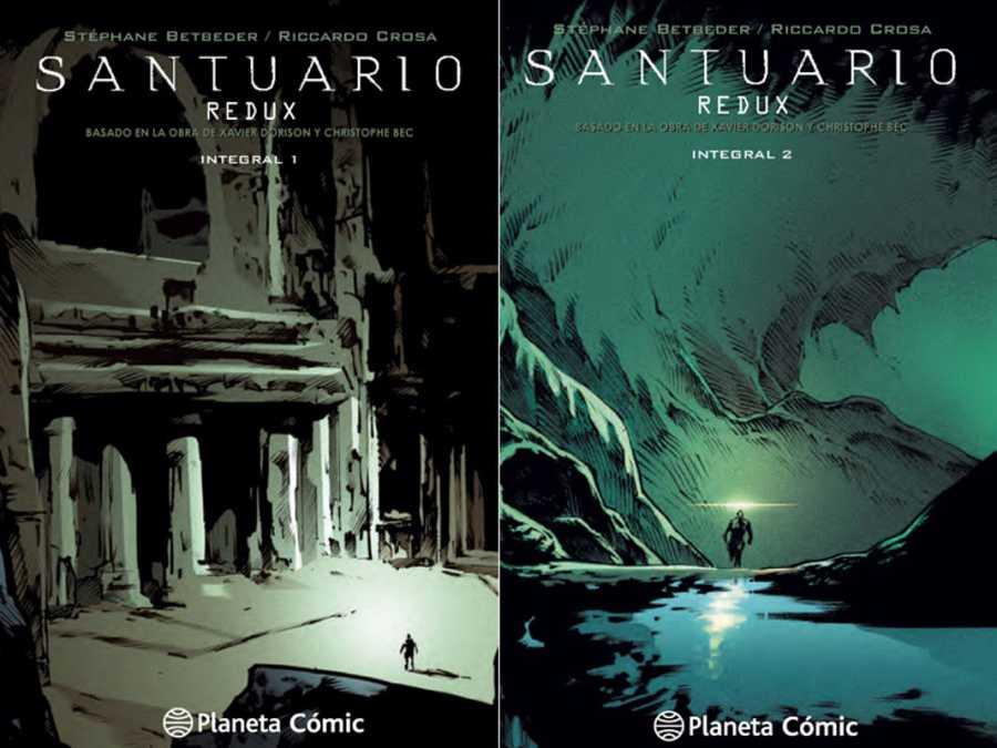 Portadas de la edición española de 'Santuario: Redux'