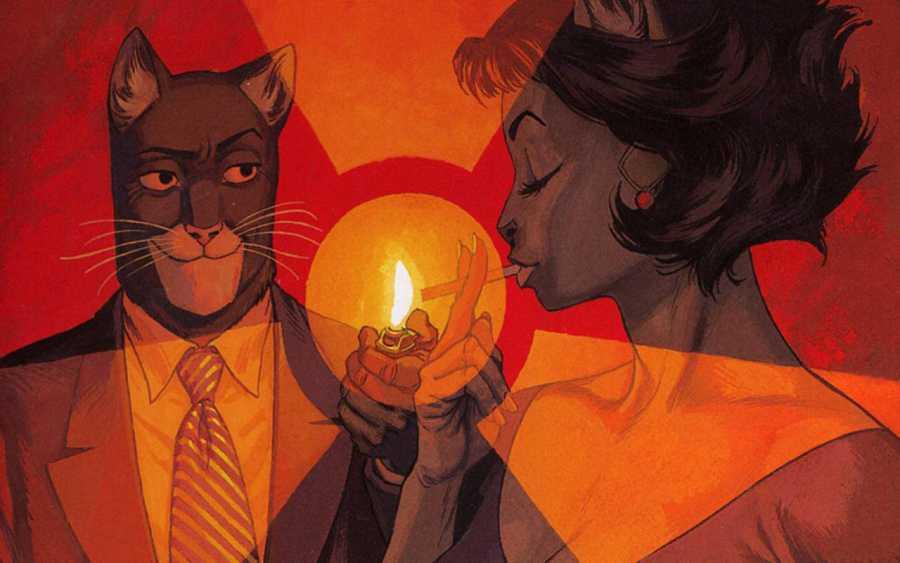 Ilustración de 'Blacksad'