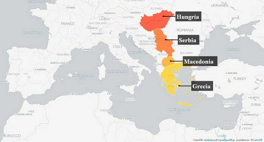Tras saltar el Mediterráneo o por tierra, Grecia, Macedonia, Serbia y Hungría reciben miles de migrantes y refugiados que huyen de conflictos como los de Siria o Afganistán para solicitar asilo en Europa
