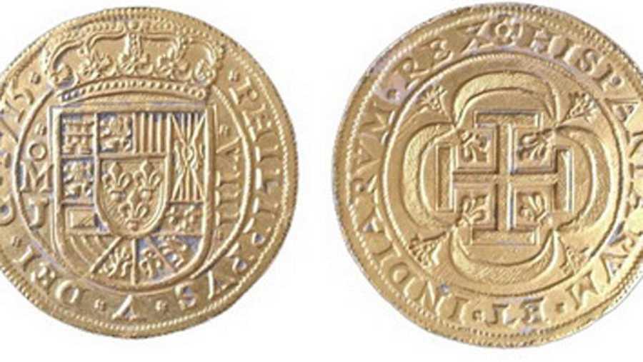 El 'Real del Tricentenario', pieza central del tesoro valorada en medio millón de dólares