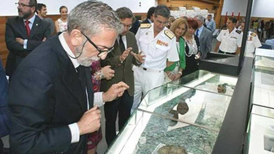 Iván Negueruela durante la inauguración de la exposición de 'Nuestra Señora de las Mercedes' en el ARQUA