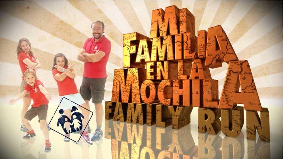 Logo 'Mi familia en la mochila - Family Run'