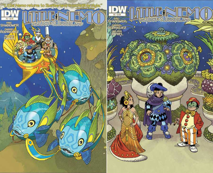 Portadas originales de 'Little Nemo. Regreso a Slumberland'
