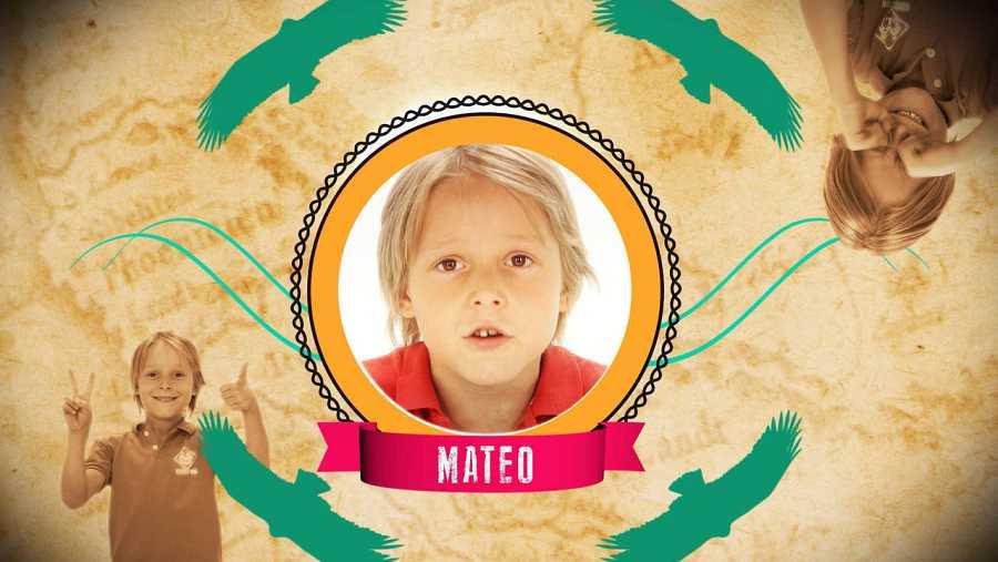 Soy Mateo, el benjamln de la familia.
