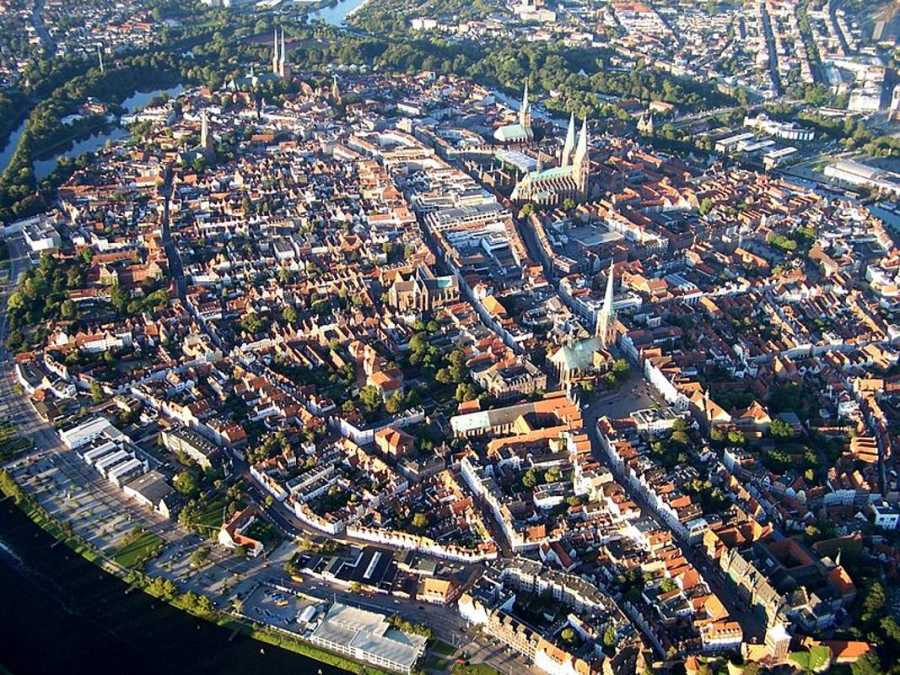 Vista aérea de Lübeck