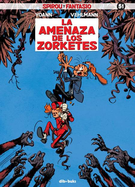 Portada de 'Spirou y Fantasio: La amenaza de los zorketes'