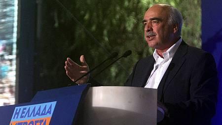 Evangelos Meimarakis, líder del partido conservador Nueva Democracia. EFE/ALEXANDROS VLACHOS