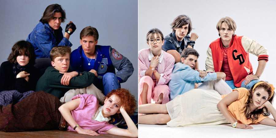 Fotos de 'El club de los cinco' y 'Promoción fantasma', que demuestran la influencia de Hughes en el cine actual