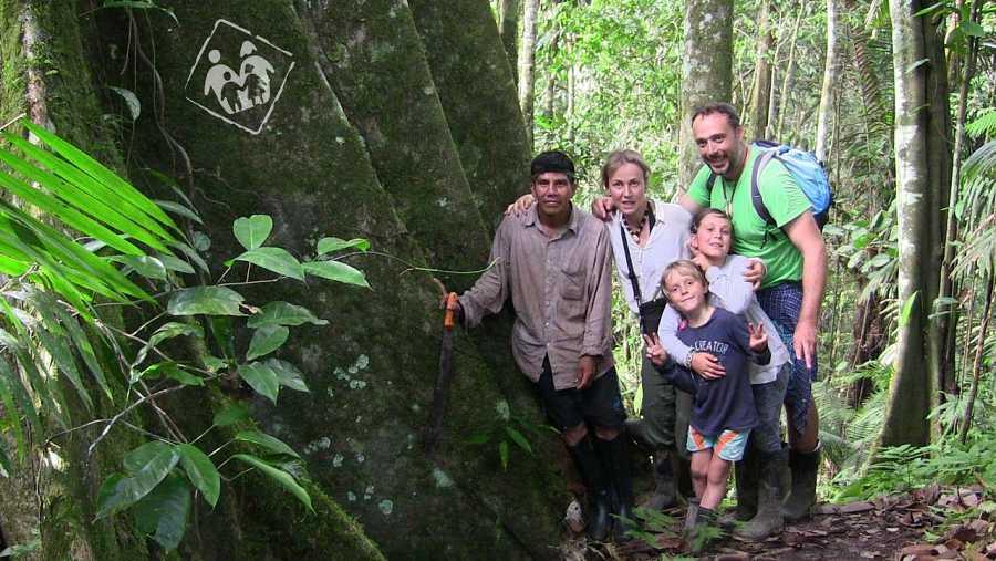 Mi Familia en la mochila en Yasuni