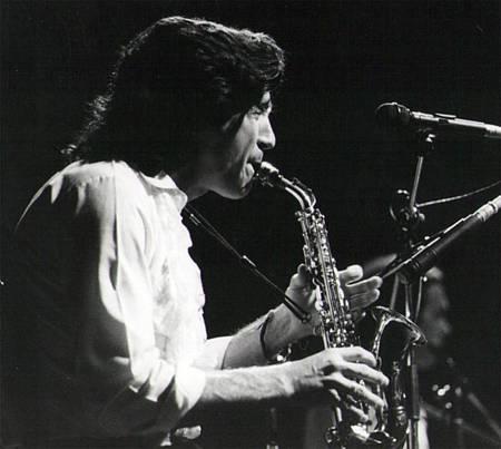 El flautista y Saxofonista Jorge Pardo, en la época del sexteto de Paco de Lucía
