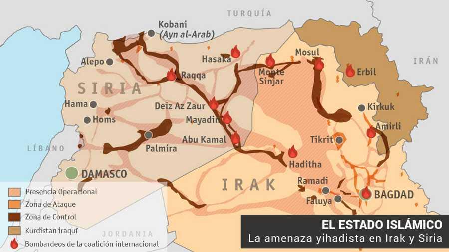 Fuente: RTVE e Instituto para el Estudio de la Guerra. Actualizado a 15 de septiembre de 2015.