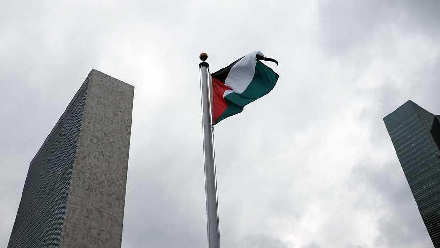 La bandera de Palestina ondea en la ONU