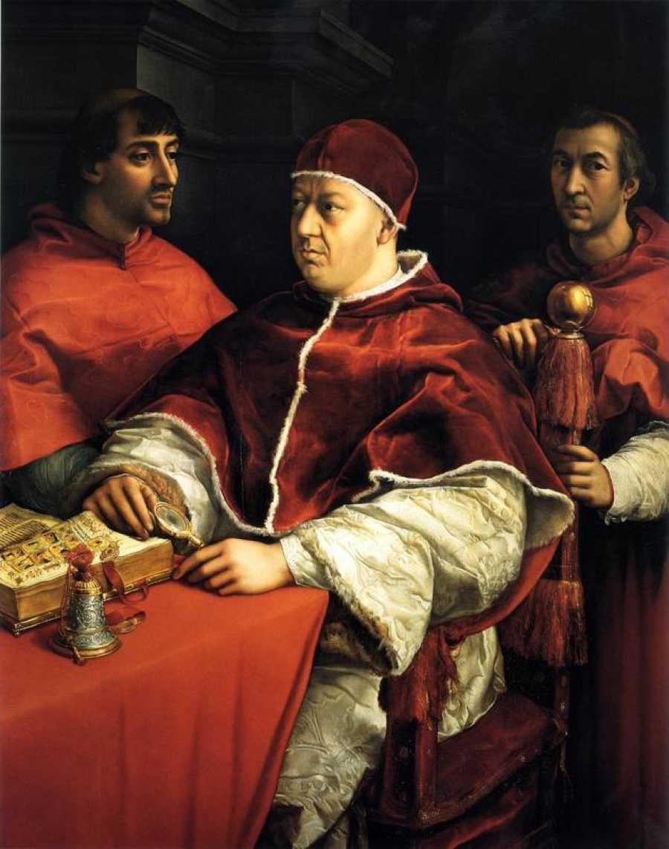 Cuadro de León X y dos cardenales, de Rafael Sanzio