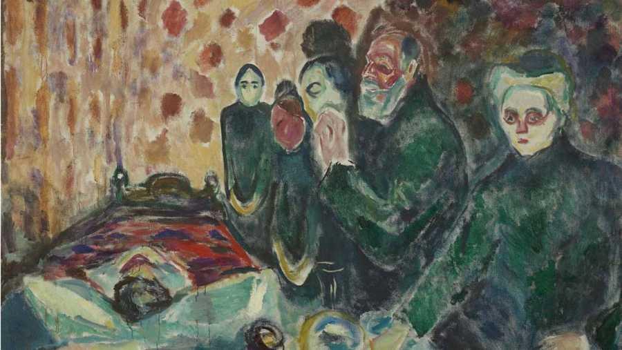 'Agonía', 1915, Edvard Munch, Munch-Museet, Oslo