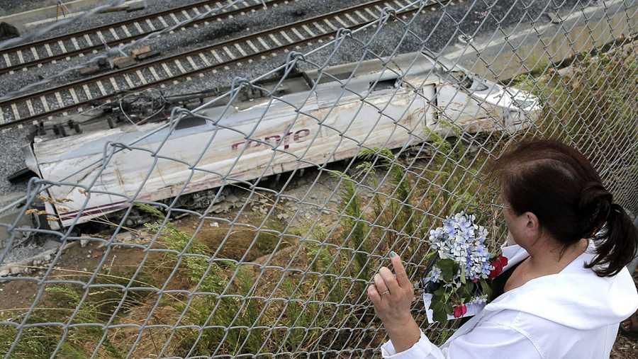 Imagen de archivo del accidente de tren en Santiago
